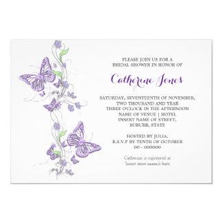 Purple butterfly swirl card