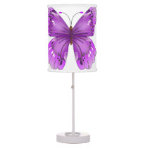 Purple Butterfly Table Lamp