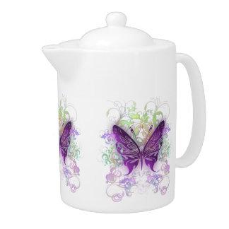 Purple Butterfly Teapot
