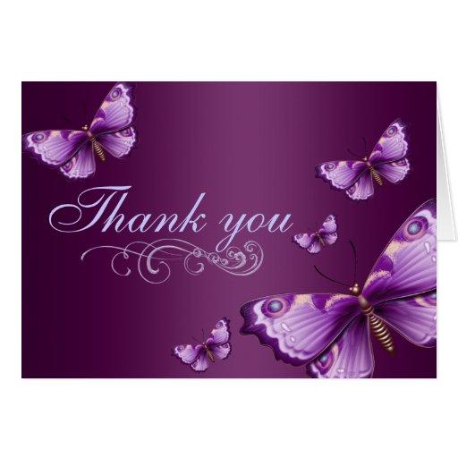Purple Butterfly Thank You Card Zazzle