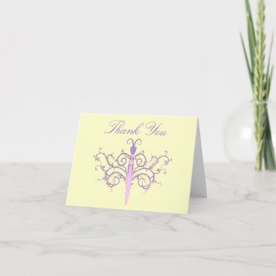 violet butterfly thank you cards