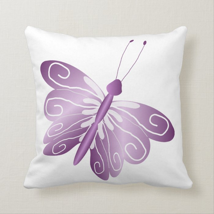 Purple Butterfly Throw Pillow Zazzle