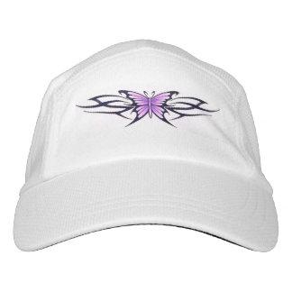 purple butterfly tribal design hat