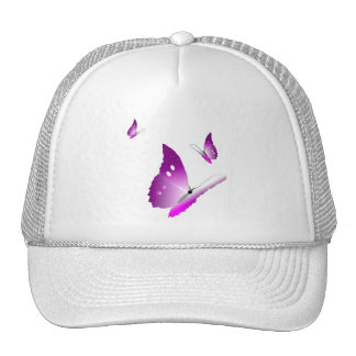 purple butterfly trucker hat