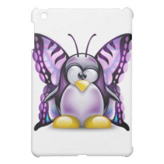 Purple Butterfly Tux (Linux Tux) iPad Mini Cases