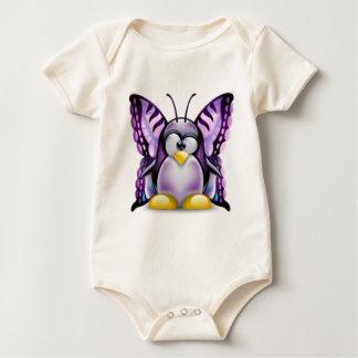 Purple Butterfly Tux (Linux Tux) Romper