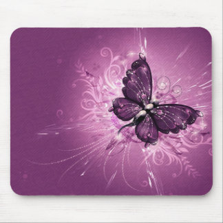 purple butterfly vector art mouse pad