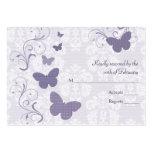 Purple Butterfly Wedding RSVP Cards