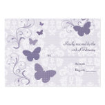 Purple Butterfly Wedding RSVP Cards Business Cards