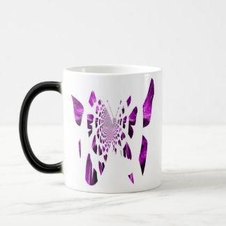 Purple Butterfly Wings 11 Oz Magic Heat Color-Changing Coffee Mug