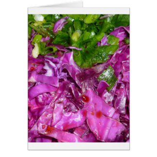 purple cabbage green onions vegetable food card