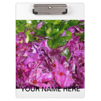 purple cabbage green onions vegetable food clipboard
