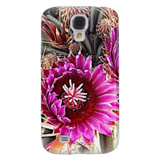 Purple Cactus Bloom Samsung Galaxy S4 Cases