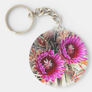 Purple Cactus Bloom Key Chain