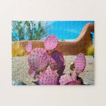 Purple Cactus New Mexico. Jigsaw Puzzle