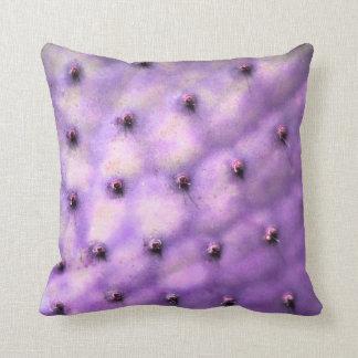Purple Cactus Throw Pillow