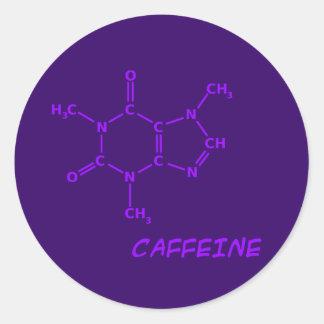 Purple Caffeine Molecule Sticker