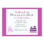 Purple Cake and Presents Birthday Party Invitation