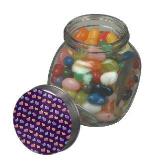 purple cake pattern jelly belly candy jars