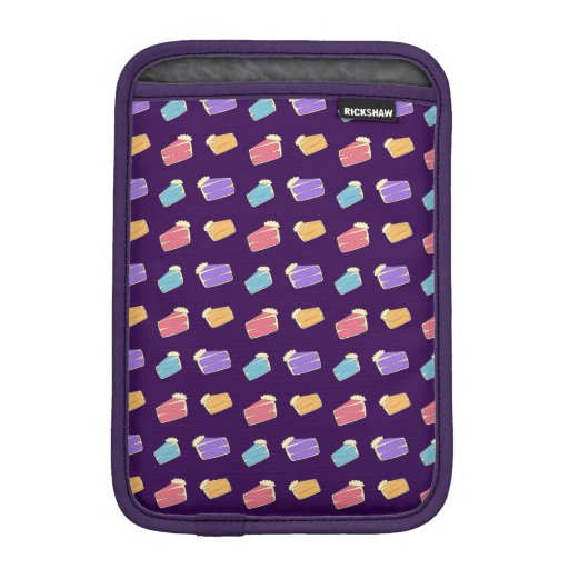 purple cake pattern iPad mini sleeves