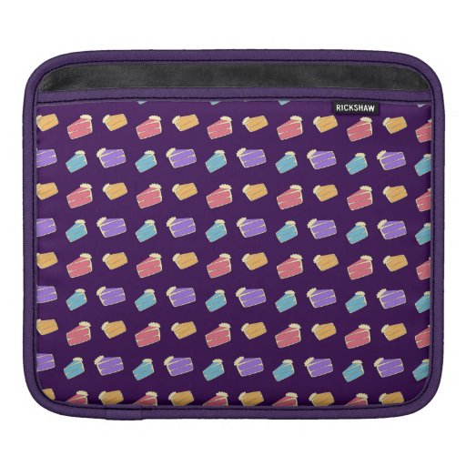 purple cake pattern sleeves for iPads