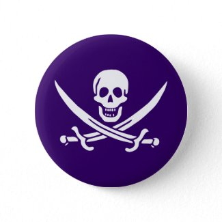 Purple Calico Jack button