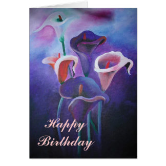 Purple Calla Lilies Card