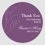 Purple Calla Lilies Favour Stickers
