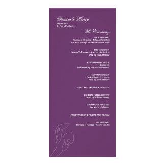 Purple Calla Lilies Wedding Program Custom Rack Card