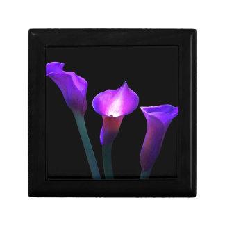purple calla lily jewelry boxes