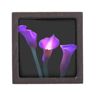 purple calla lily keepsake box