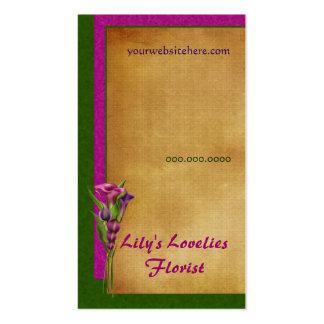 Purple Callas Business Card