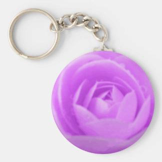 Purple Camellia Keychain