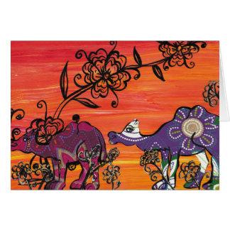 Purple Camels Card