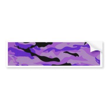 Purple Camo Bumper Sticker