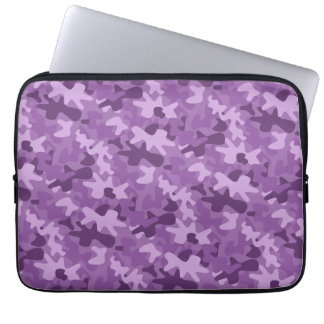 Purple Camo Camouflage Pattern Laptop Sleeve