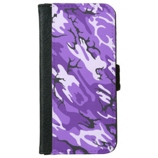 Purple Camo Cell Phone Wallet