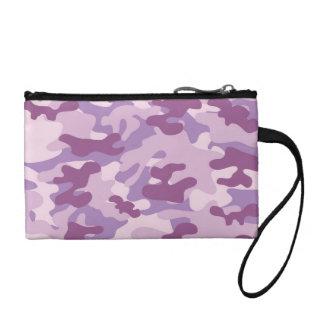Purple Camo Design Coin Wallet