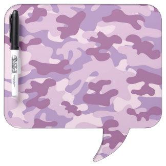 Purple Camo Design Dry-Erase Board