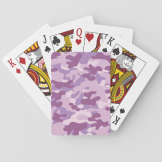 Purple Camo Design Card Deck