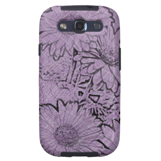 Purple Camo Gerbera Daisy Galaxy S3 Case