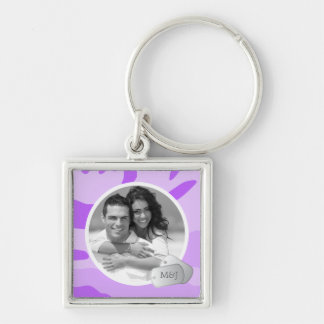 Purple Camo Pattern Customizable Photo & Dog Tags Key Chains