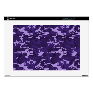 "Purple Camo Pattern Decals For 15"" Laptops"
