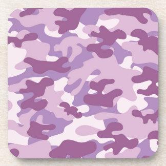 Purple Camo Print Coaster