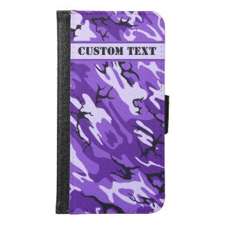Purple Camo Smartphone Wallet w/ Custom Text