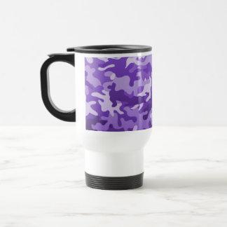 Purple Camo Travel Mug