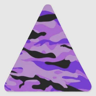 Purple Camo Triangle Sticker