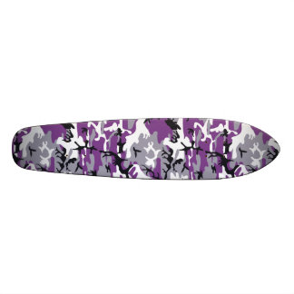 "Purple Camouflage 7 1/8"" Skateboard"