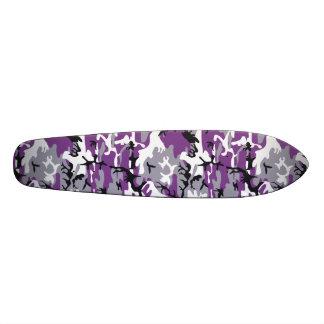 """Purple Camouflage 7 1/8"""" Skateboard"""