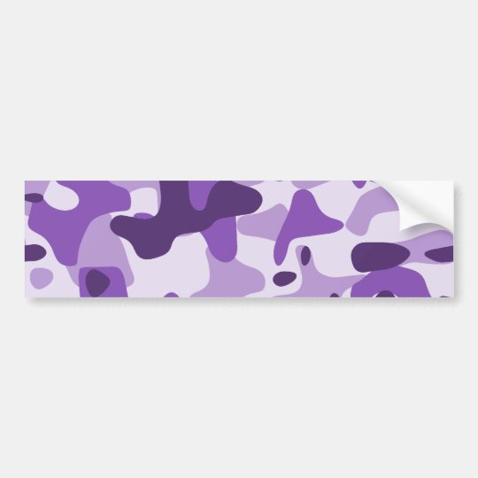Purple Camouflage Bumper Sticker
